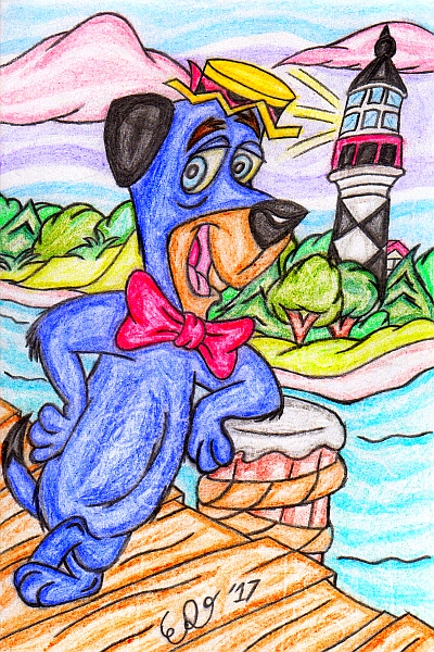 Huckleberry Hound by WrongWayWhiskers