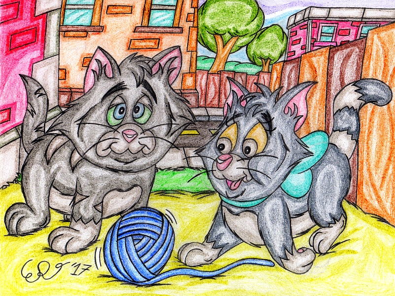 Vincent and Vera the Kittens by WrongWayWhiskers