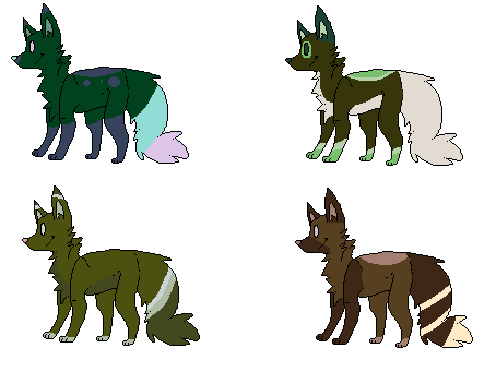 5 point canines by WolveFalcoAdoptables