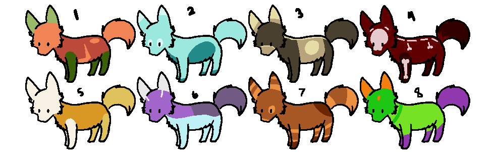 Halloweeny Foxies - POINTS - OPEN by WolveFalcoAdoptables