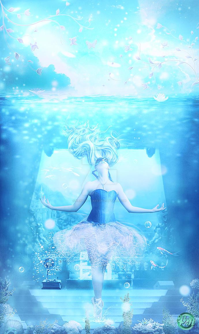 Aqua Dancer by Renata-s-art