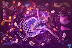 Falling to Wonderland by Renata-s-art