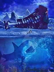 Shipwreck in Antartica
