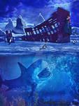 Shipwreck in Antartica by Renata-s-art