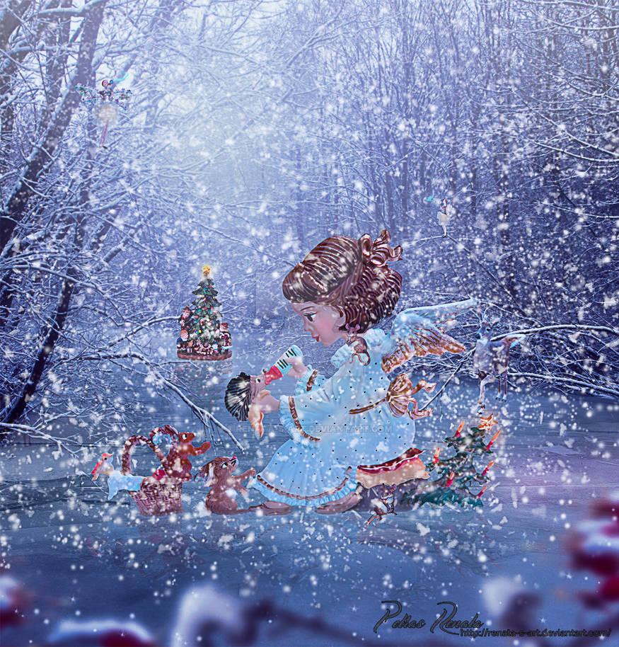 Merry little Christmas by Renata-s-art