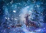Wooden Rudolph by Renata-s-art