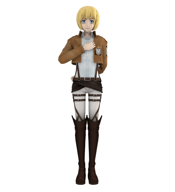 Anime Character Modeling Blender : St blender attempt armin arelet by amethyst space on