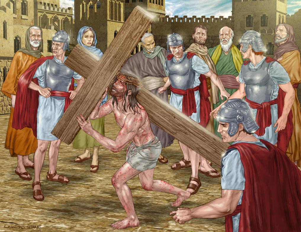 Crucifixion scene by Leandroton