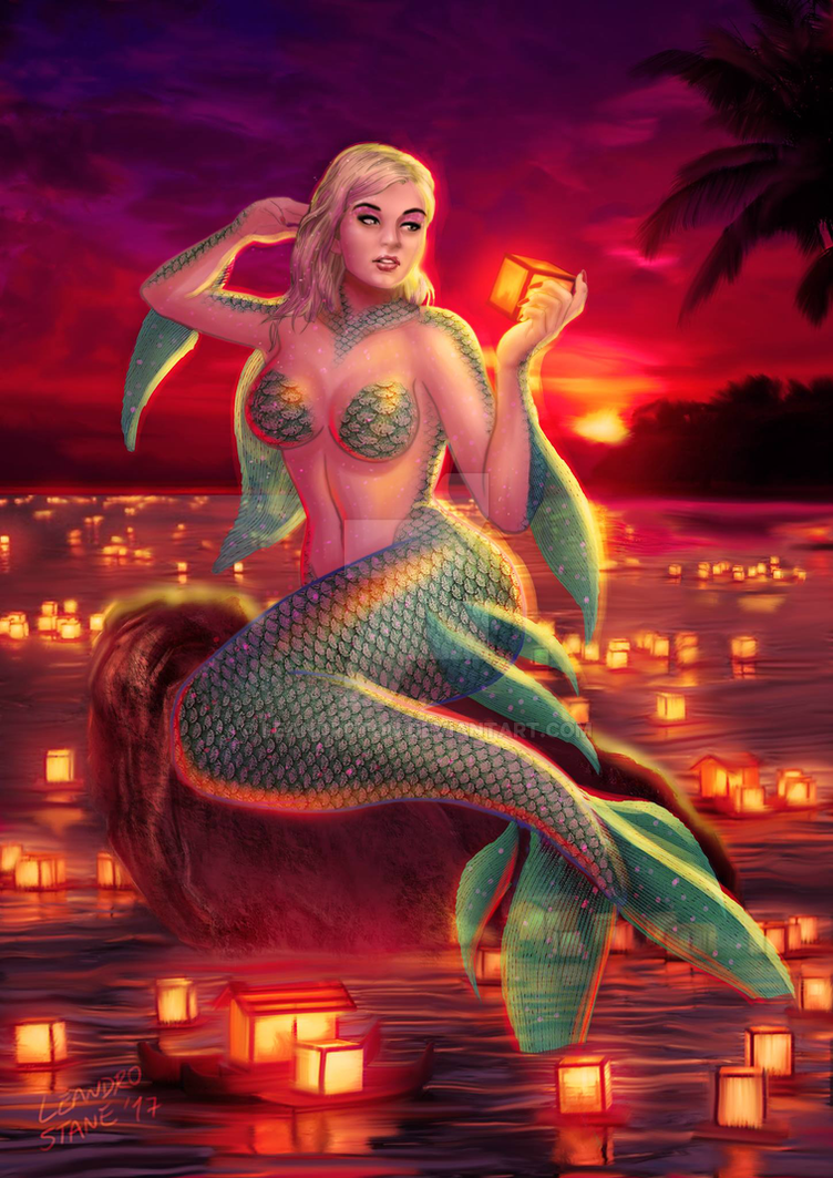 Siren and lamps in the sunset by Leandroton on DeviantArt