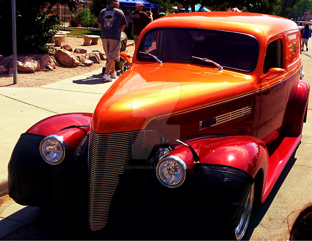 Red and Orange Street Rod by sci-fifreak4
