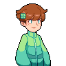 Pixel bust: Clover by ChirpyCharlotte