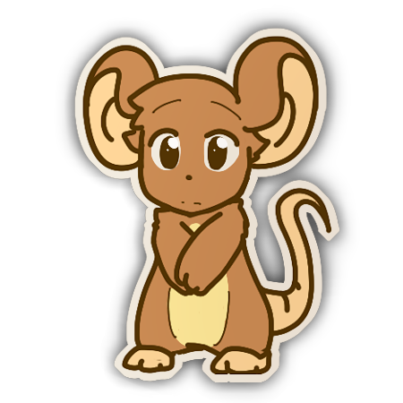 Souris Sticker by Fierying