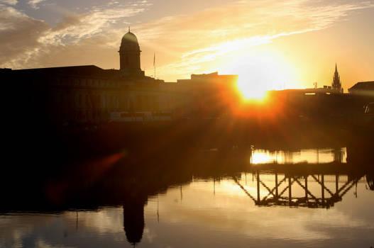 Sunset at City Hall