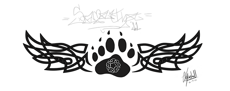tattoo celtic bear paw by sammipa on deviantart. Black Bedroom Furniture Sets. Home Design Ideas