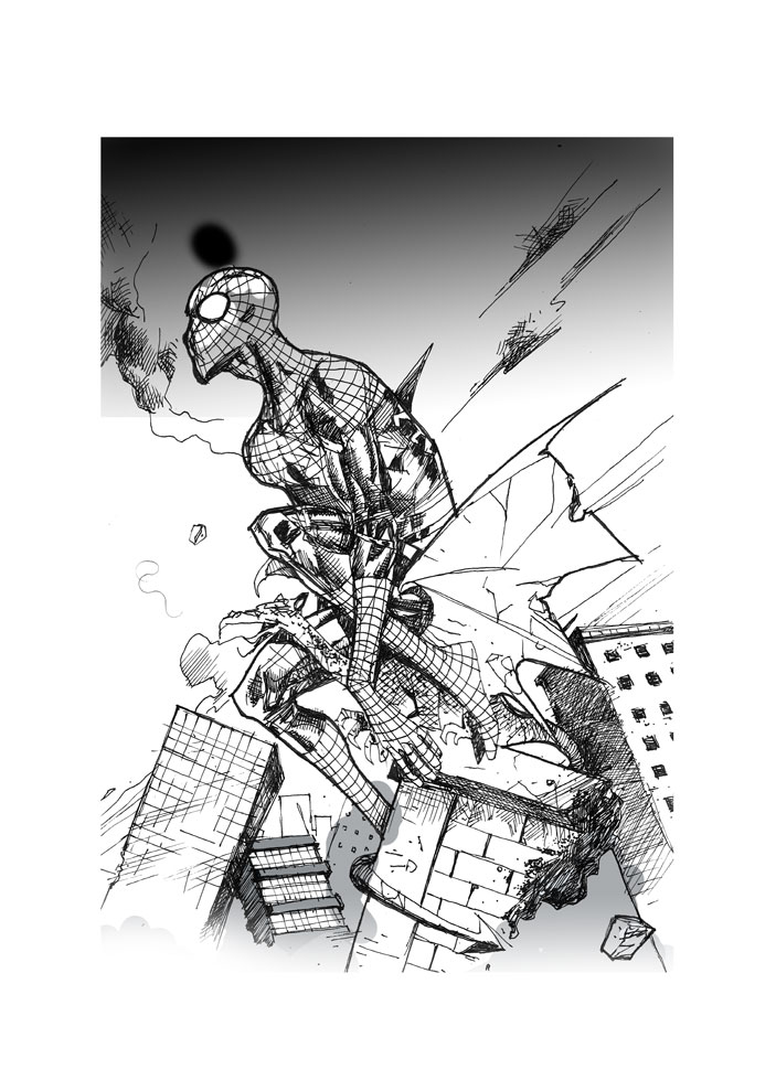 Spidey-Mondays-#27-bw by antcody