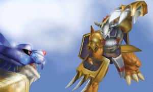 WarGreymon vs. MetalGarurumon