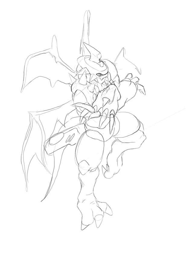 Paildramon Sketch by Mearns