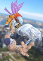 Mega Claw: MetalGreymon vs. SkullMeramon by Mearns