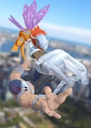 Mega Claw: MetalGreymon vs. SkullMeramon