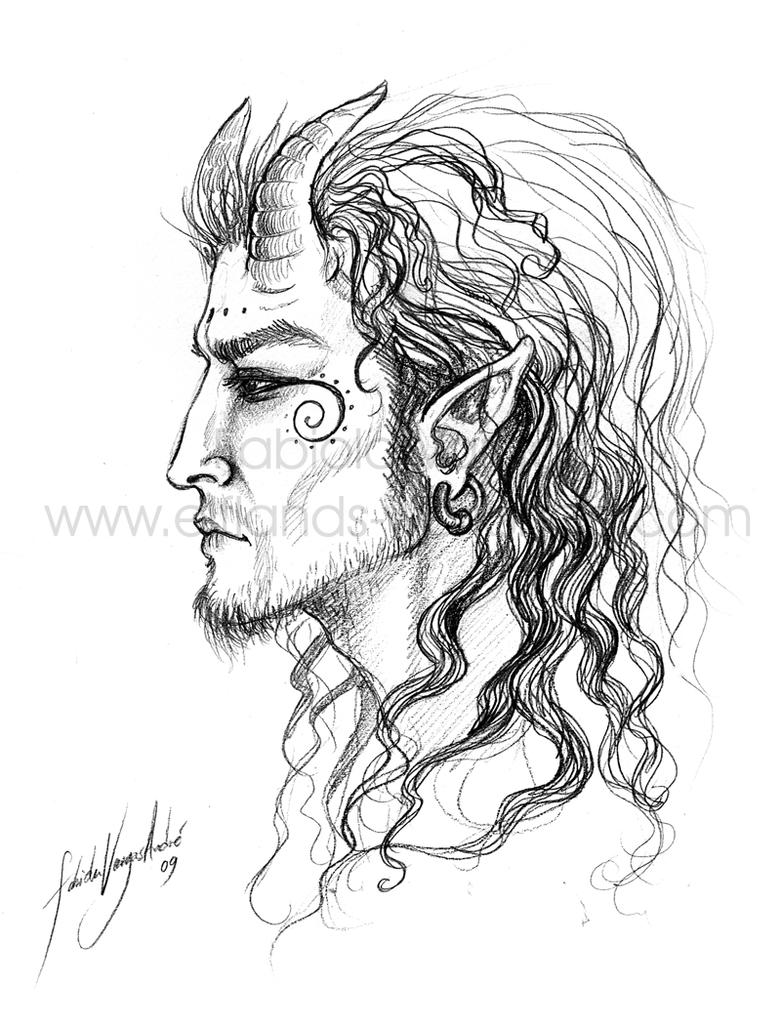 Satyr Sketch by Taurina