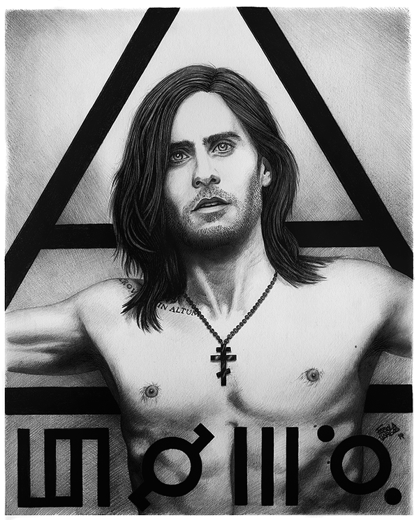 Jared Leto Portrait 1 by Taurina