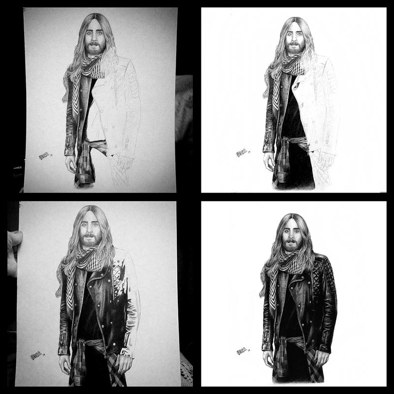 Jared Leto Portrait 2 Progression 2 by Taurina