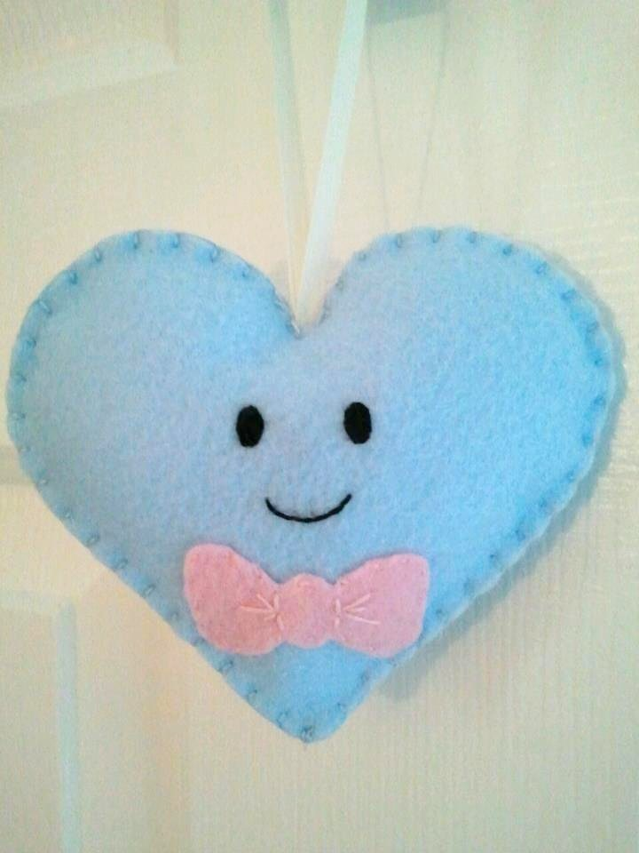 Boy Heart with Bow Tie Heart Ornament by msmegas on DeviantArt