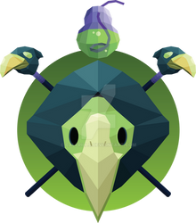 Low-Poly Plague Knight by calfrills