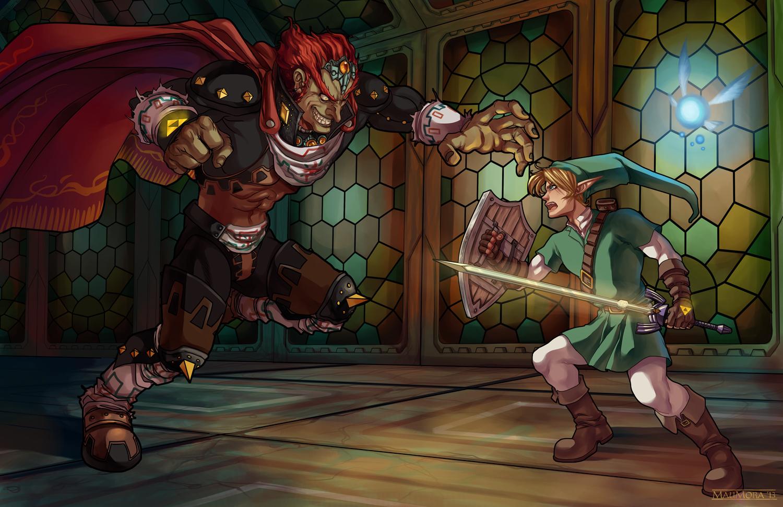 Battle Atop Ganon's Castle by Mephmmb