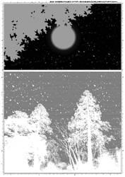 Screentones Starry Sky 3 by bakenekogirl