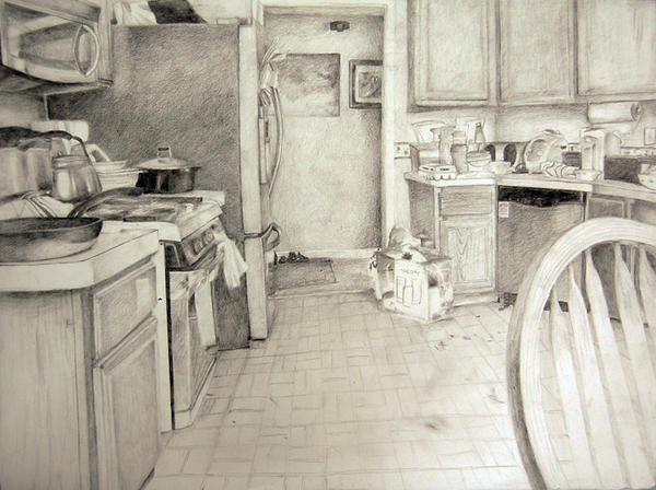 Kitchen Study by GraveyardBat