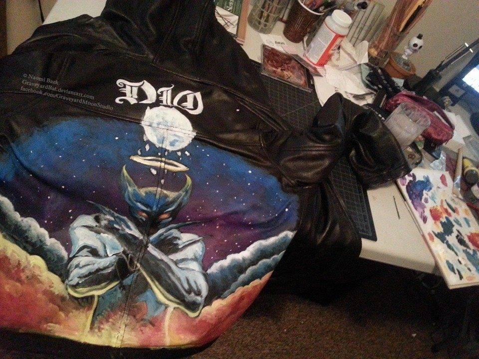 Dio battle jacket progress by GraveyardBat