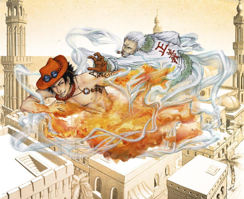 Fight above Alabasta by Hosio