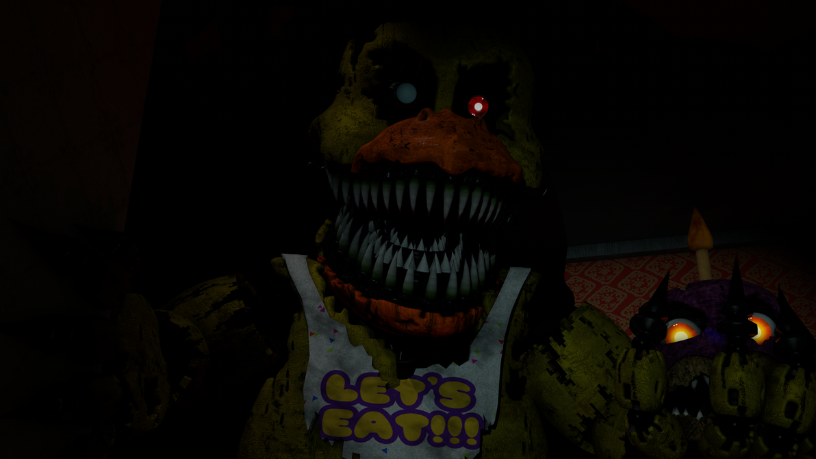 Nightmare Chica And Cupcake. by AdventureOldFoxy