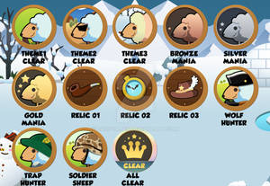 [Hungry and sheep] All Achievement Badge design