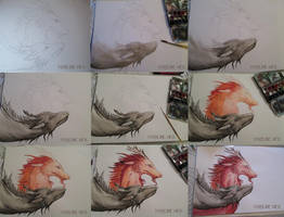 Making of dragon couple by maryline-weyl