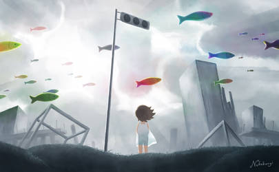 Then people became free fish by nekobungi