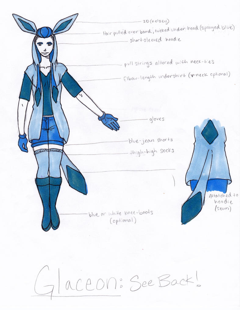 Glaceon cosplay by SavvyKatt