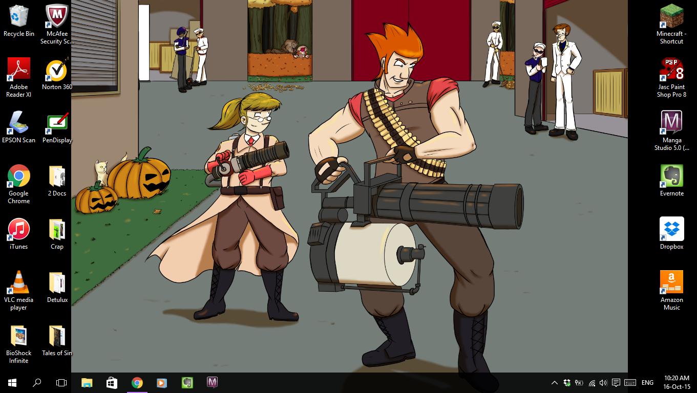 Current Desktop by Psi-Baka-Onna
