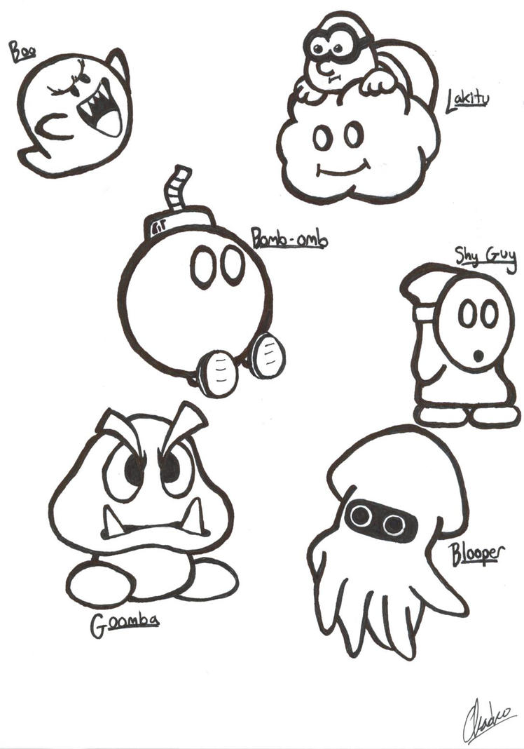 super mario sketches part i by justchacko on deviantart