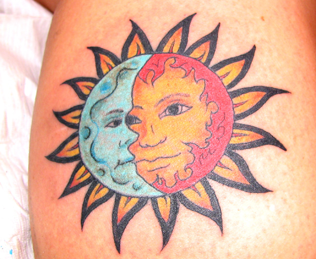 sun and moon tattoos Jen 39s Sun and Moon