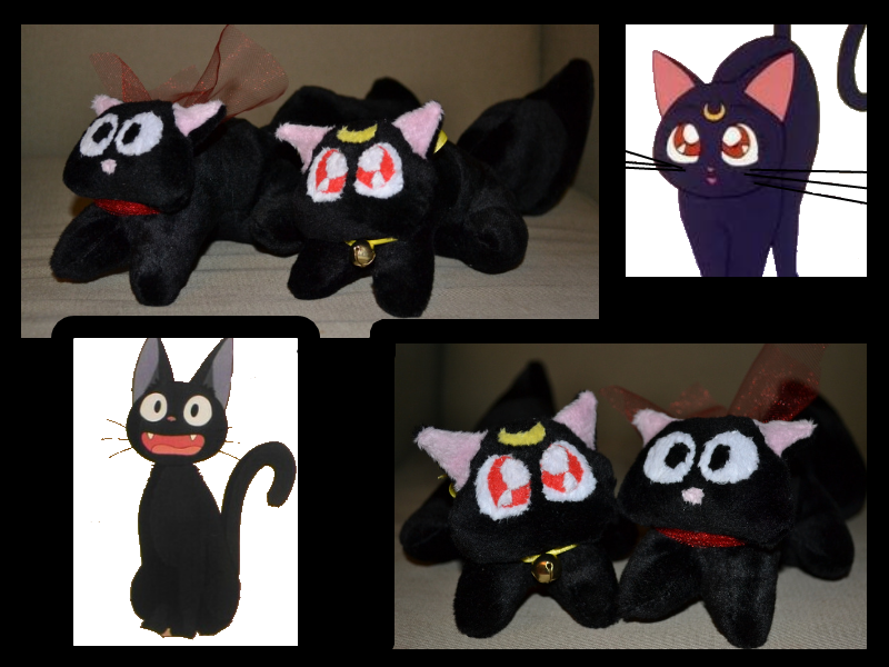 Luna and Jiji Cat Plush by Mlggirl