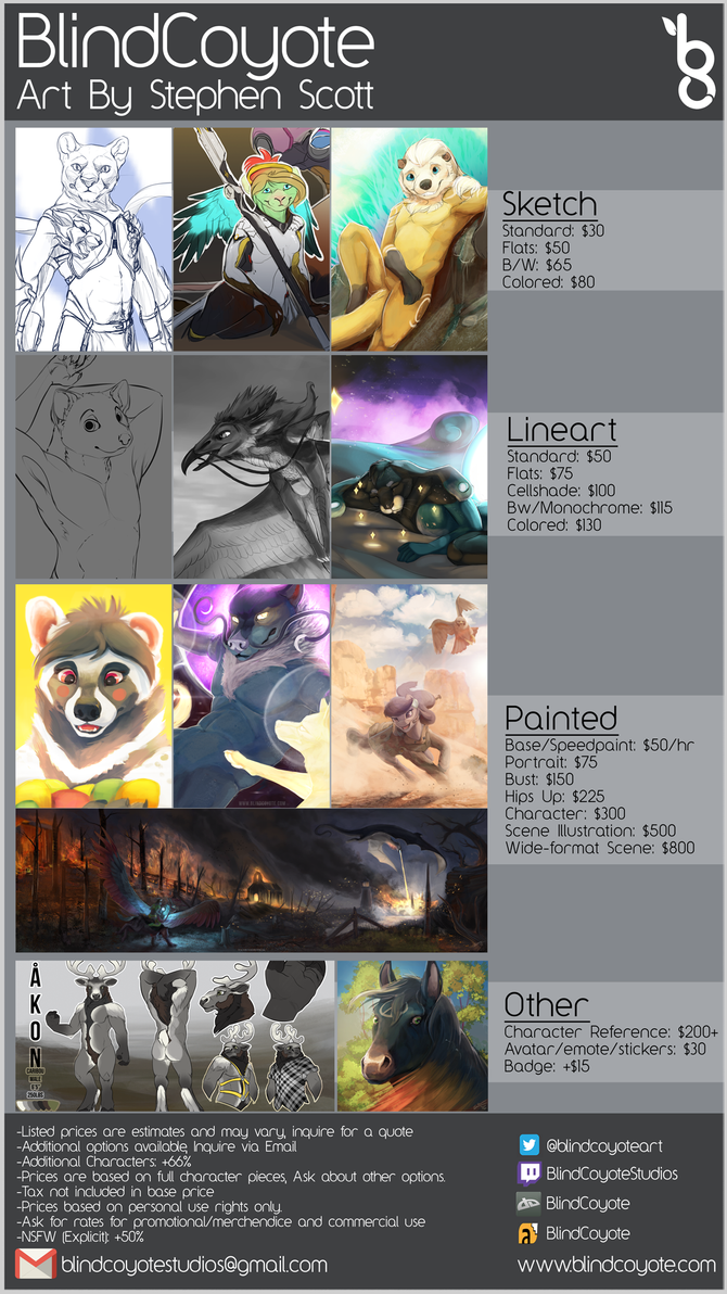 Commission Price Guide by BlindCoyote
