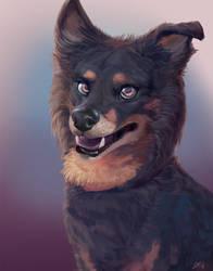 Sandy Poopy Portrait by BlindCoyote
