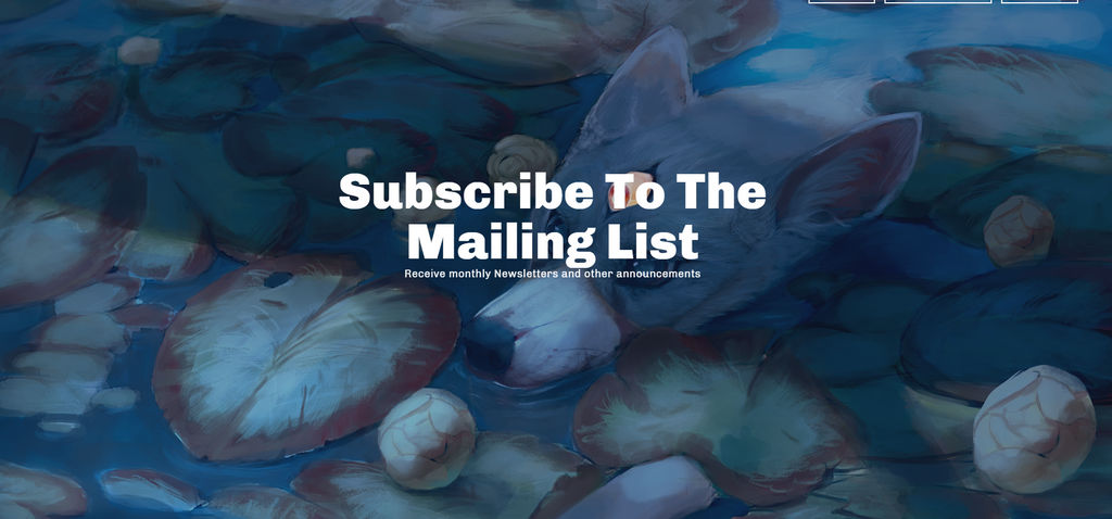 Sign up for the Newsletter Mailing List by BlindCoyote