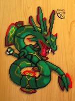 N# ??? Fake Mega Rayquaza (Perler Beads) by Cimenord