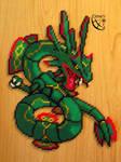 N# ??? Fake Mega Rayquaza (Perler Beads)