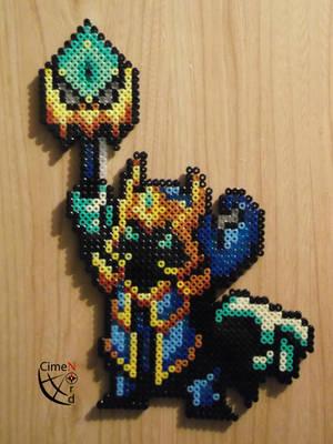 Veigar Final Boss Perler Beads by Cimenord