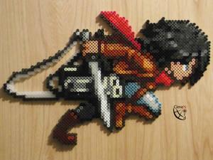 Mikasa Running Perler Beads by Cimenord