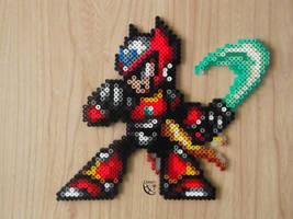 Megaman Zero with saber Perler Beads